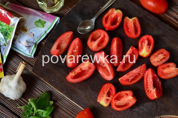 Вяленые помидоры в домашних условиях в духовке с чесноком в масле