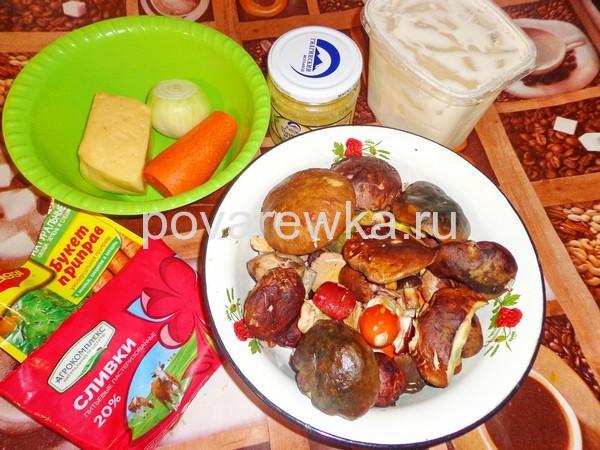 Классический рецепт жульена с грибами ингредиенты