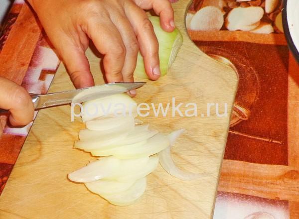 Жульен с грибами и луком