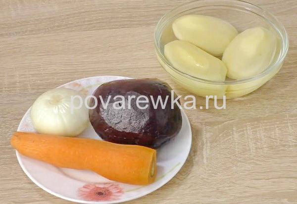 Борщ: рецепт классический с мясом ингредиенты
