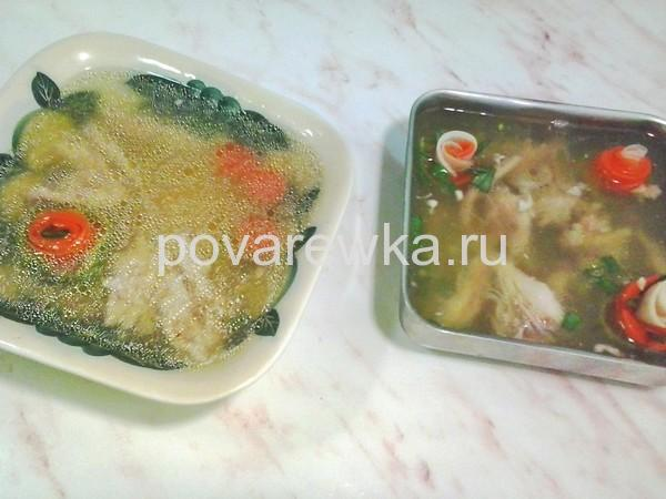 Холодец из курицы с желатином и без: рецепт с фото