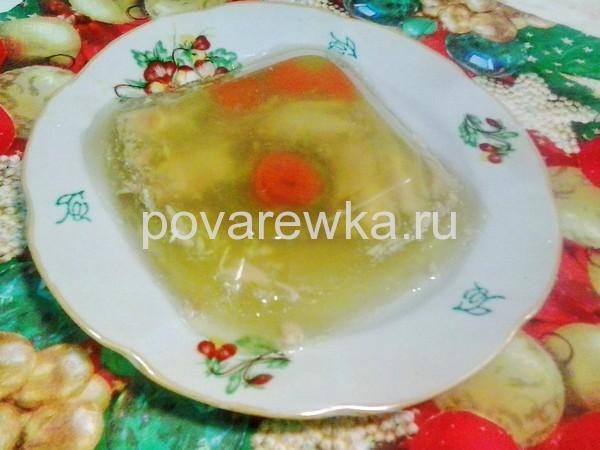 Холодец из курицы с желатином и без: рецепт пошагово