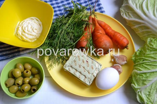 Новогодняя закуска Мандаринки ингредиенты