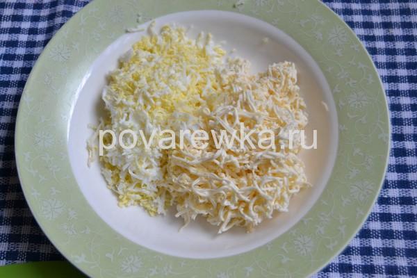 Новогодняя закуска Мандаринки с сыром