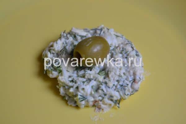 Новогодняя закуска Мандаринки с оливками
