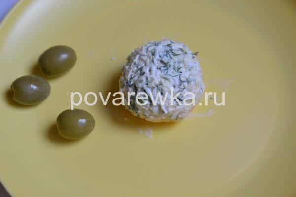 Новогодняя закуска Мандаринки шарики