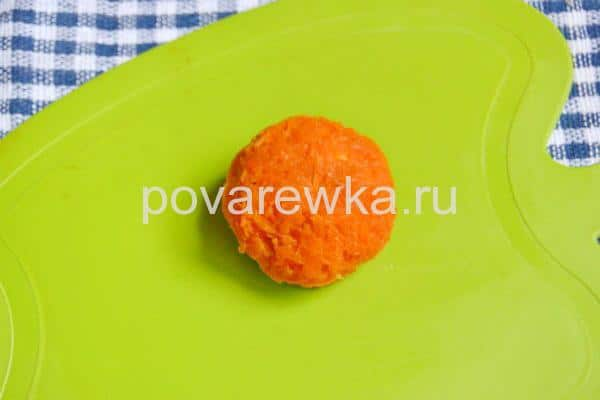 Новогодняя закуска Мандаринки шарики с оливками