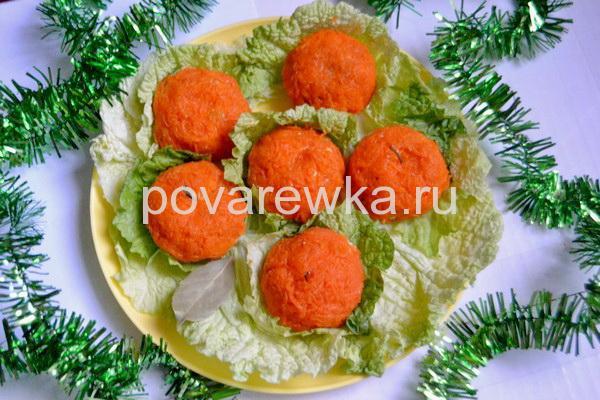 Новогодняя закуска Мандаринки праздничные
