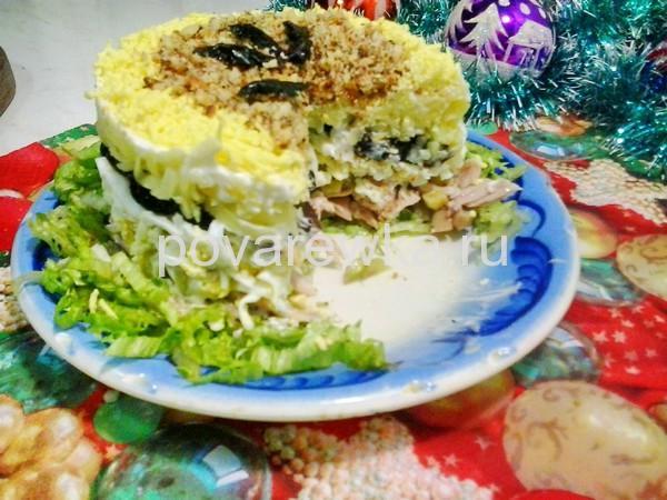 Салат с курицей и грибами: классический простой рецепт с огурцом