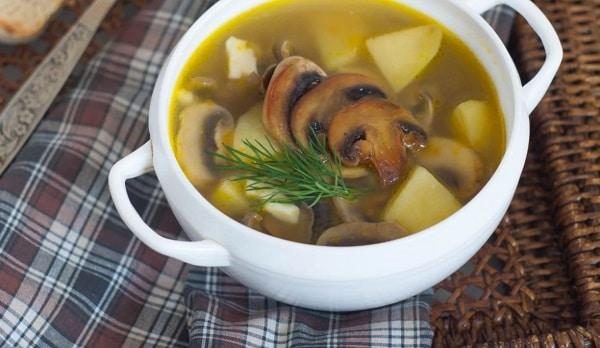 Грибной суп из шампиньонов: пошаговый рецепт с вермишелью