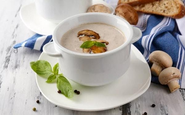 Грибной суп из шампиньонов: пошаговый рецепт со сливками