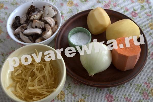 Грибной суп из шампиньонов: классический
