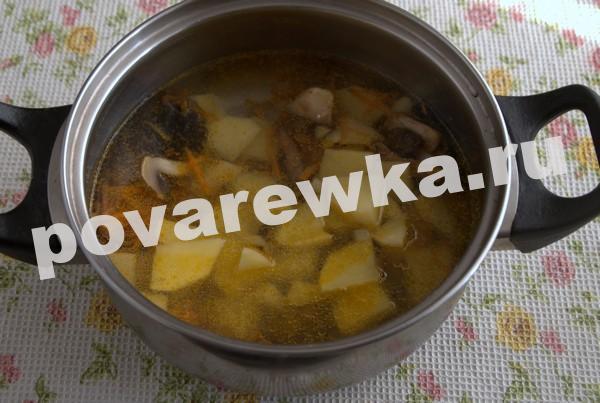 Грибной суп из шампиньонов: классический рецепт с лапшой