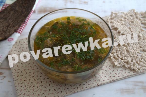 Грибной суп из шампиньонов: пошаговый рецепт