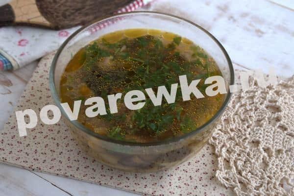 Грибной суп из шампиньонов: пошаговый рецепт с фото