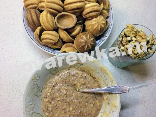 Орешки со сгущенкой: начинка для печенья