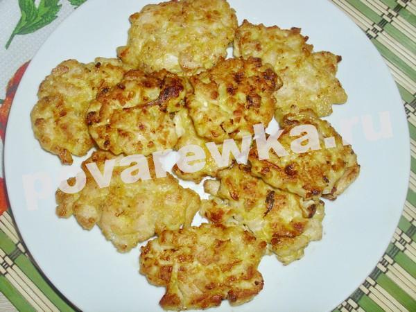 Рубленные котлеты из куриного филе: на сковороде с сыром