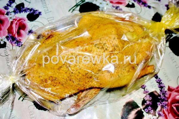 Утка с яблоками в духовке: пошаговый рецепт в рукаве