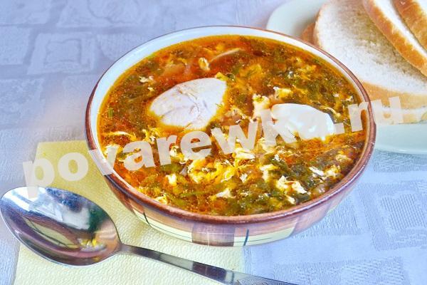 Зелёный борщ с щавелем и яйцом: рецепт с фото классический