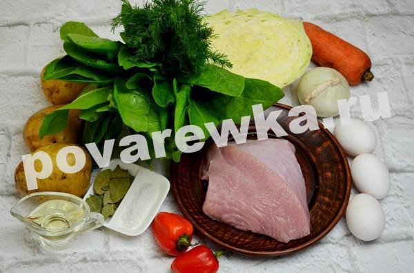 Зелёный борщ с щавелем и яйцом: рецепт с фото, ингредиенты