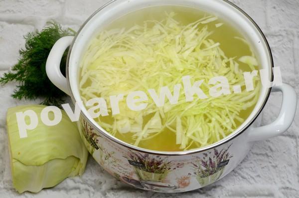 Зелёный борщ с щавелем и яйцом: рецепт с капустой