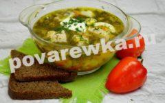 Зелёный борщ с щавелем и яйцом: рецепт с фото пошагово