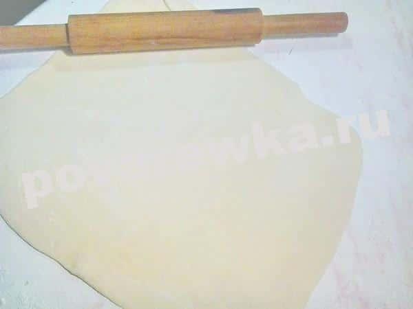 Раскатать тесто для штрудли