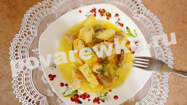 жаркое по домашнему из свинины с картошкой рецепт