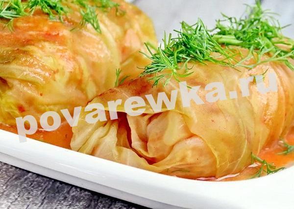 Голубцы: рецепт пошагово с фото с рисом и фаршем в томатном соусе