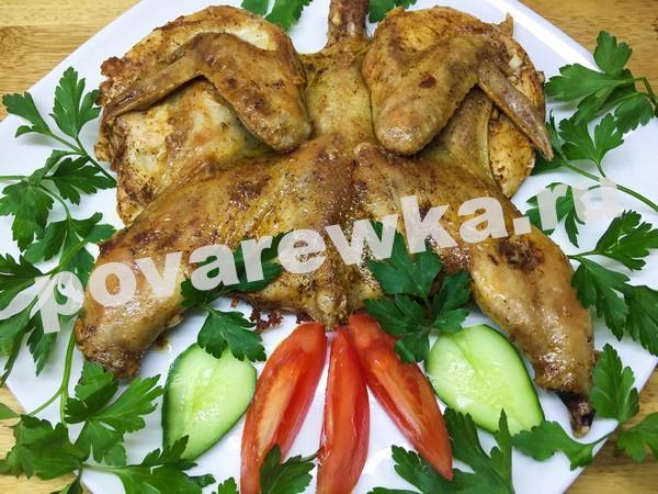 Цыплёнок табака: рецепт на сковороде под прессом с зеленью