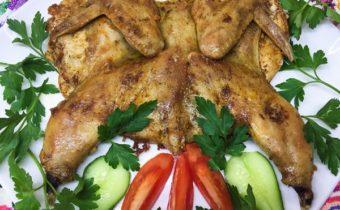 Цыплёнок табака: рецепт на сковороде под прессом