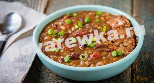 Фасолевый суп: рецепт из красной фасоли с курицей