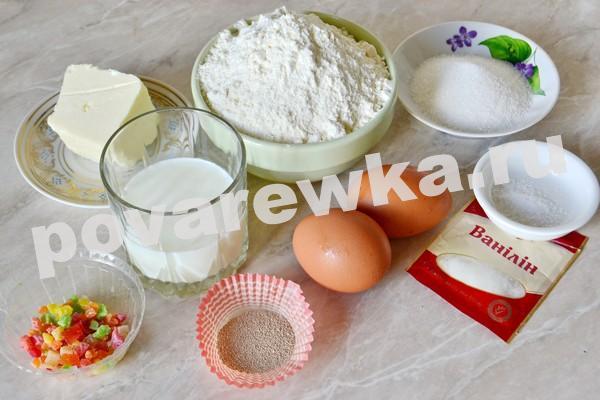 Пасхальный кулич: классический рецепт с фото - ингредиенты