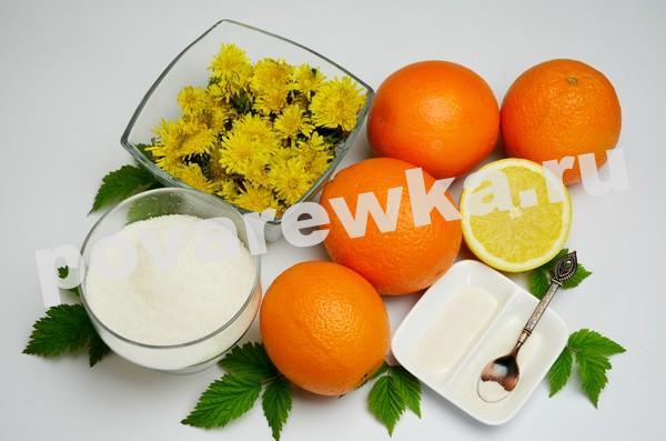 Варенье из одуванчиков: ингредиенты