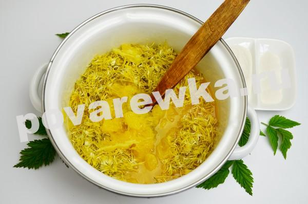 Варенье из одуванчиков: рецепт с апельсиновым соком