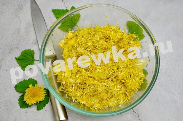 Варенье из одуванчиков: желе с лимоном