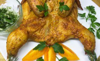 Цыпленок табака в духовке: пошаговый рецепт с фото