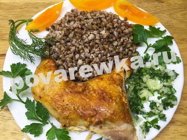 Цыпленок табака в духовке: пошаговый рецепт с гречкой