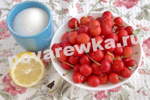 Варенье из черешни с косточками на зиму: ингредиенты