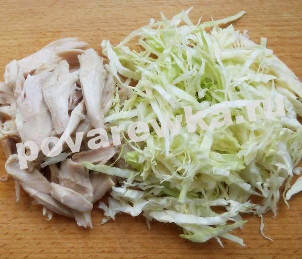 Капуста и мясо для приготовления борща