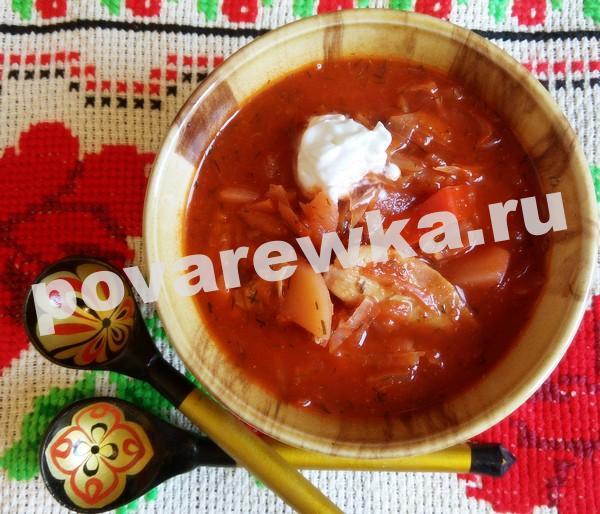Борщ со свеклой и капустой: пошаговый рецепт с фото