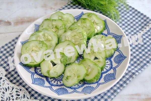 Малосольные огурцы с чесноком и зеленью быстро и просто