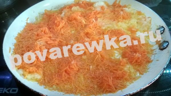 Морковь с луком обжаренная для голубцов