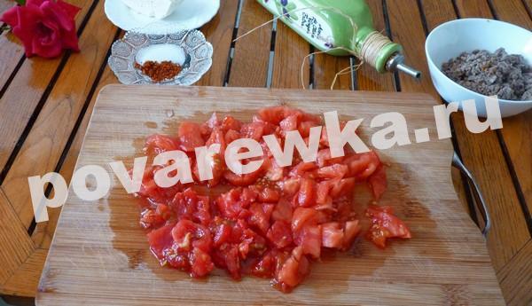 Запеканка из баклажанов с помидорами