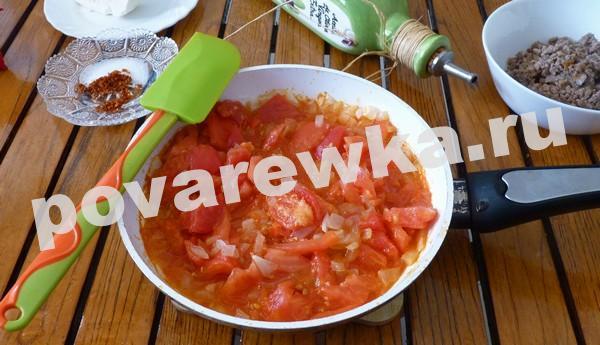Запеканка из баклажанов с помидорами в духовке