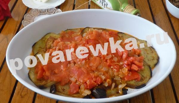 Запеканка из баклажанов с помидорами и фаршем в духовке