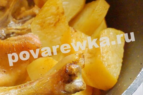 Курица в духовке с картошкой: пошаговый рецепт