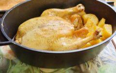 Курица в духовке с картошкой: пошаговый рецепт с фото