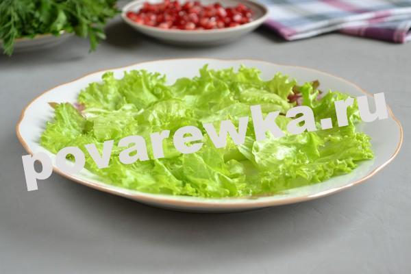 Слоеный салат с мясом на праздничный стол