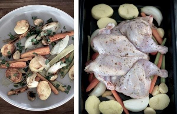 Овощи для цыпленка